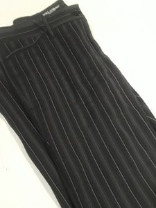 Pants - Dolce & Gabbana Womens Black Pinstripe Slacks